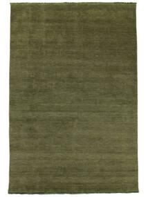 Handloom Fringes - Grön Matta 200X300 Modern Olivgrön/Mörkgrön (Ull, Indien)