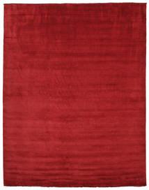 Handloom Fringes - Mörkröd Matta 300X400 Modern Röd Stor (Ull, Indien)