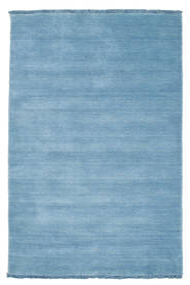 Handloom Fringes - Ljusblå Matta 100X160 Modern Ljusblå (Ull, Indien)