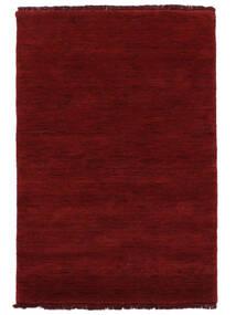 Handloom Fringes - Mörkröd Matta 140X200 Modern Röd (Ull, Indien)