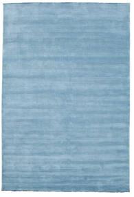 Handloom Fringes - Ljusblå Matta 220X320 Modern Ljusblå (Ull, Indien)