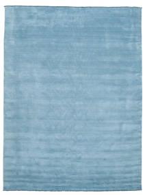 Handloom Fringes - Ljusblå Matta 300X400 Modern Ljusblå Stor (Ull, Indien)