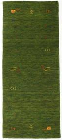 Gabbeh Loom Frame - Grön Matta 80X200 Modern Hallmatta Mörkgrön (Ull, Indien)