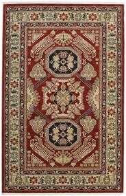 Kazak Mirvan Matta 200X300 Orientalisk Mörkröd/Ljusbrun ( Turkiet)