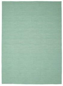 Kelim Loom - Mint Grön Matta 250X350 Äkta Modern Handvävd Pastellgrön/Turkosblå Stor (Ull, Indien)