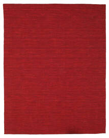 Kelim Loom - Mörkröd Matta 200X250 Äkta Modern Handvävd Röd (Ull, Indien)