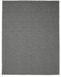 Kelim Loom - Mörkgrå Matta 300X400 Äkta Modern Handvävd Mörkgrön/Ljusgrå Stor (Ull, Indien)