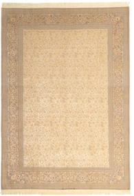 Isfahan Silkesvarp Signerad: Dardashti Matta 250X350 Äkta Orientalisk Handknuten Beige/Ljusbrun Stor (Ull/Silke, Persien/Iran)