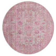 Maharani - Grå/Rosa Matta Ø 150 Modern Rund Ljusrosa ( Turkiet)