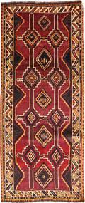 Ghashghai Matta 127X300 Äkta Orientalisk Handknuten Hallmatta Mörkröd/Svart (Ull, Persien/Iran)