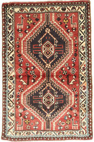 Ghashghai Matta 97X150 Äkta Orientalisk Handknuten Mörkbrun/Mörkröd (Ull, Persien/Iran)
