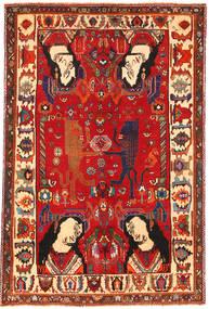 Ghashgai Figural Matta 153X235 Äkta Orientalisk Handknuten Roströd/Mörkröd (Ull, Persien/Iran)