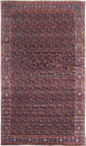 Senneh Matta 368X639 Äkta Orientalisk Handknuten Mörkbrun/Lila Stor (Ull, Persien/Iran)