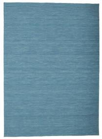 Kelim Loom - Blå Matta 160X230 Äkta Modern Handvävd Turkosblå/Blå (Ull, Indien)