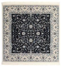 Nain Florentine - Mörkblå Matta 150X150 Orientalisk Kvadratisk Mörkgrå/Beige ( Turkiet)