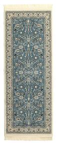 Nain Florentine - Ljusblå Matta 80X200 Orientalisk Hallmatta Mörkgrå/Ljusgrå ( Turkiet)