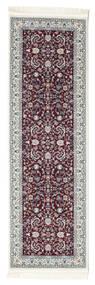 Nain Florentine - Mörk Röd Matta 80X200 Orientalisk Hallmatta Mörkbrun/Ljusgrå ( Turkiet)