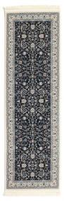 Nain Florentine - Mörkblå Matta 80X300 Orientalisk Hallmatta Mörkgrå/Ljusgrå ( Turkiet)