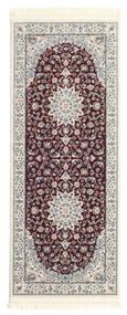 Nain Emilia - Mörkröd Matta 80X200 Orientalisk Hallmatta Mörkbrun/Ljusgrå ( Turkiet)