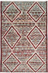 Barchi/Moroccan Berber Matta 193X300 Äkta Modern Handknuten Ljusgrå/Mörkröd (Ull, Afghanistan)