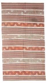 Kelim Semiantik Turkisk Matta 163X301 Äkta Orientalisk Handvävd Ljusbrun/Mörkbrun (Ull, Turkiet)