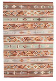 Kelim Anatolian Matta 100X160 Äkta Modern Handvävd Mörkröd/Ljusgrå (Ull, Indien)
