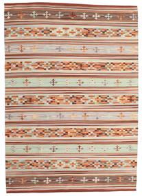 Kelim Anatolian Matta 160X230 Äkta Modern Handvävd Mörkröd/Ljusgrå (Ull, Indien)