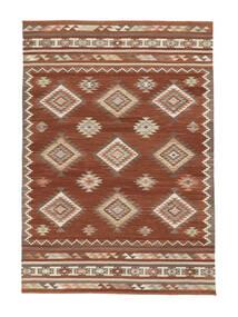 Kelim Malatya Matta 160X230 Äkta Modern Handvävd Röd/Ljusbrun (Ull, Indien)