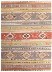 Kelim Nimrud Matta 240X340 Äkta Modern Handvävd Ljusgrå/Mörkbeige (Ull, Indien)