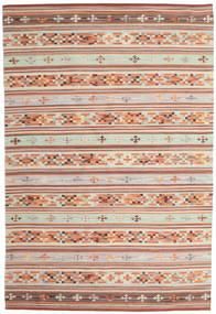 Kelim Anatolian Matta 190X290 Äkta Modern Handvävd Mörkröd/Ljusgrå (Ull, Indien)