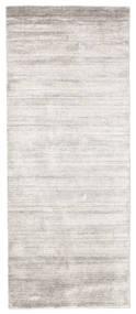Bambu Silke Loom - Warm Grå Matta 80X200 Modern Hallmatta Ljusgrå/Vit/Cremefärgad ( Indien)