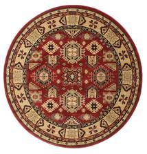 Shirvan Kazak Matta Ø 200 Orientalisk Rund Mörkröd/Ljusbrun ( Turkiet)