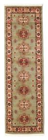 Marivan Kazak Matta 80X250 Orientalisk Hallmatta Ljusgrön/Brun ( Turkiet)