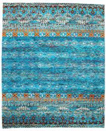 Quito - Turkos Matta 240X290 Äkta Modern Handknuten Turkosblå/Blå (Silke, Indien)