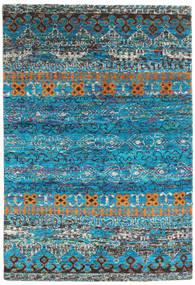 Quito - Turkos Matta 160X230 Äkta Modern Handknuten Turkosblå/Mörkgrå (Silke, Indien)