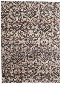Reina Matta 160X230 Äkta Modern Handknuten Ljusgrå/Mörkbrun (Silke, Indien)