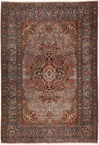 Isfahan Antik Matta 138X207 Äkta Orientalisk Handknuten Mörkbrun/Mörkröd (Ull, Persien/Iran)