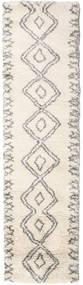 Berber Shaggy Massin Matta 80X300 Modern Hallmatta Beige/Ljusgrå ( Turkiet)