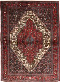 Senneh Matta 115X155 Äkta Orientalisk Handknuten Mörkröd/Svart (Ull, Persien/Iran)