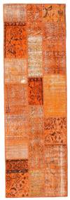 Patchwork Matta 79X247 Äkta Modern Handknuten Hallmatta Orange/Ljusbrun (Ull, Turkiet)
