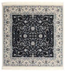 Nain Florentine - Mörkblå Matta 300X300 Orientalisk Kvadratisk Mörkgrå/Ljusgrå Stor ( Turkiet)