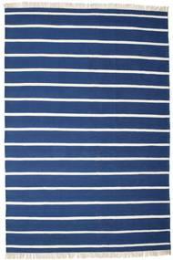 Dorri Stripe - Mörkblå Matta 200X300 Äkta Modern Handvävd Mörkblå/Blå (Ull, Indien)