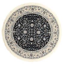 Nain Florentine - Mörkblå Matta Ø 300 Orientalisk Rund Beige/Ljusgrå/Svart Stor ( Turkiet)