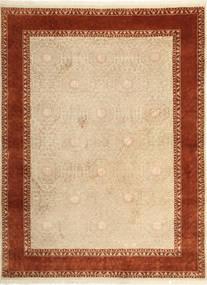 Tabriz Royal Magic Matta 174X233 Äkta Orientalisk Handknuten Beige/Ljusbrun ( Indien)