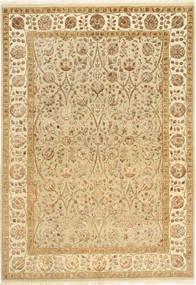 Tabriz Royal Magic Matta 167X238 Äkta Orientalisk Handknuten Mörkbeige/Beige/Ljusbrun ( Indien)