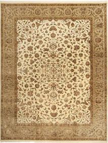 Tabriz Royal Magic Matta 242X312 Äkta Orientalisk Handknuten Ljusbrun/Mörkbeige ( Indien)