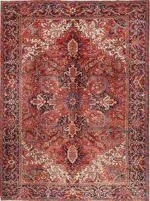 Heriz Matta 292X383 Äkta Orientalisk Handknuten Mörkröd/Mörkbrun Stor (Ull, Persien/Iran)