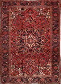 Heriz Matta 262X358 Äkta Orientalisk Handknuten Mörkröd/Mörkbrun Stor (Ull, Persien/Iran)