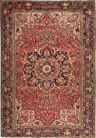 Heriz Matta 256X366 Äkta Orientalisk Handknuten Mörkbrun/Mörkröd Stor (Ull, Persien/Iran)