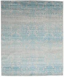 Himalaya Matta 249X300 Äkta Modern Handknuten Ljusgrå/Ljusblå (Ull/Bambusilke, Indien)
